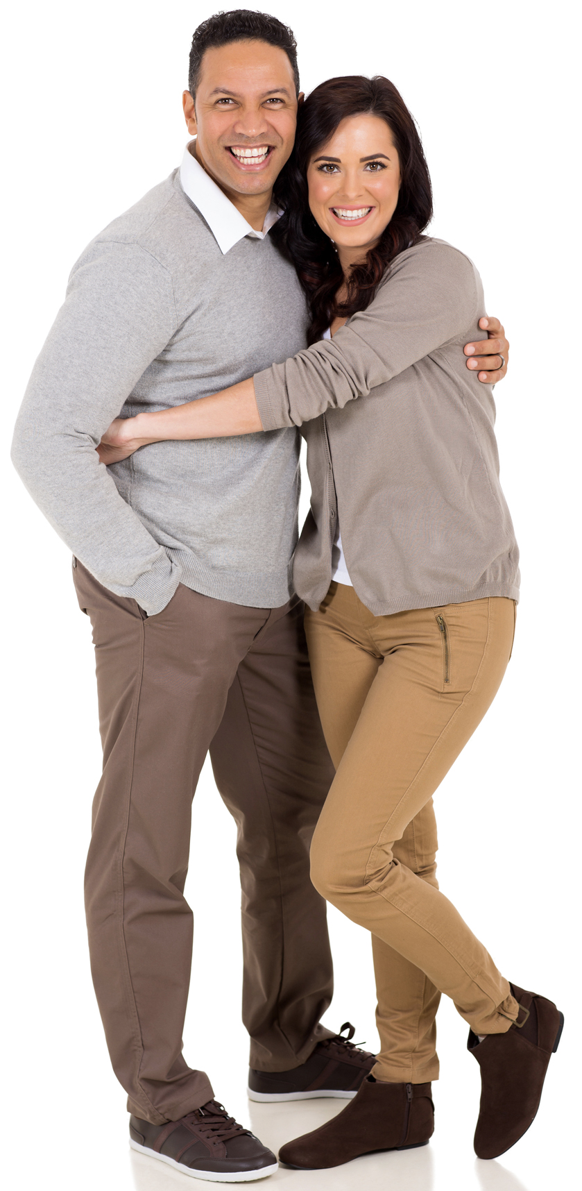 Couple standing, hugging at Denture Clinic in Liverpool